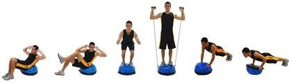 Bosu Meia Bola Suíça Balance Com Bomba E Alças Pilates 60cm - R  324 ... 0d74d7255e4e5