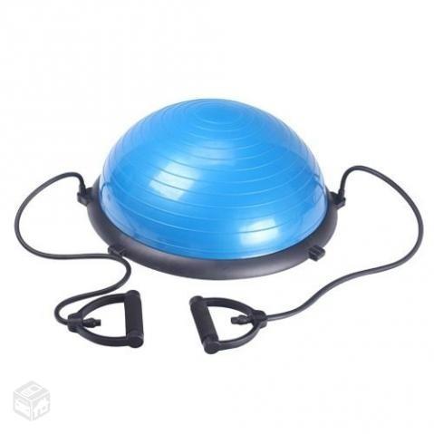 780a7f702a63c Bosu Meia Bola Suíça Balance Com Bomba E Alças Pilates 60cm - R  324 ...