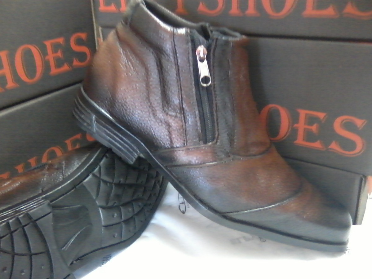df227a95b bota 151 tamanho grande 45 46 47 48 couro leg elpyshoes. Carregando zoom.