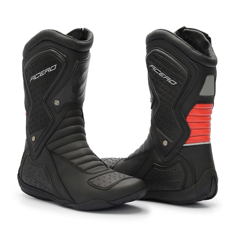 1f117fcb154 bota acero motociclista speed couro protetor marcha ziper. Carregando zoom.