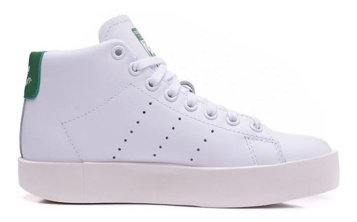 brand new 77c5b 8dd54 Bota adidas Stan Smith Bold Mid Para Mujer Blanco Talla 25