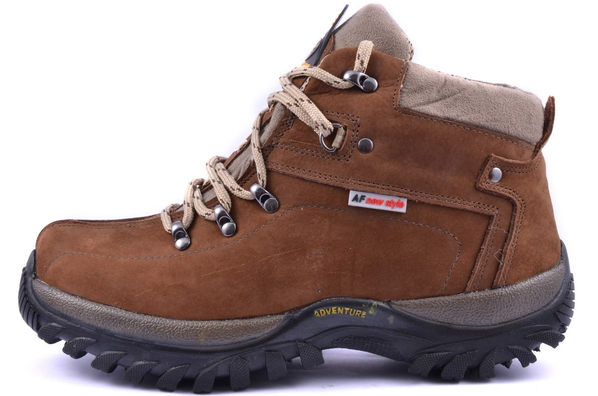 20f50806b04c3 bota adventure couro nobuck marrom coturno boot caminhada. Carregando zoom.