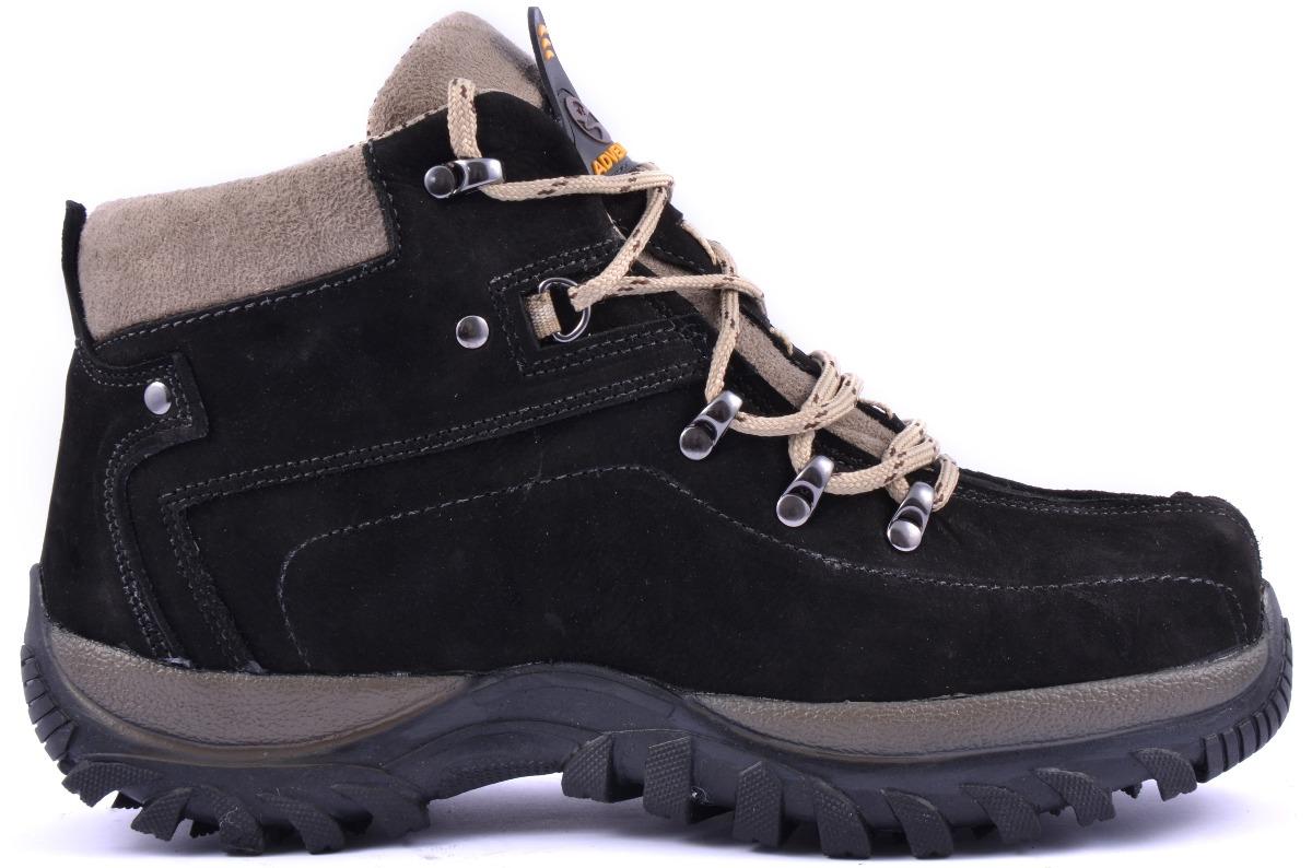 ce5bad7aea925 bota adventure couro nobuck preto coturno boot caminhada. Carregando zoom.