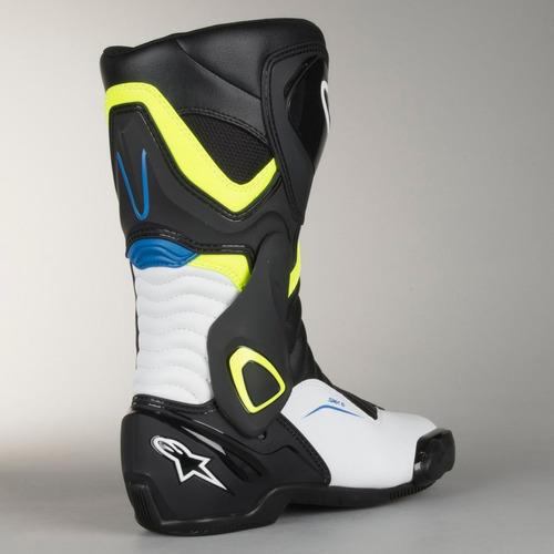 bota alpinestars smx-6 v2 com anti-torção azul branca