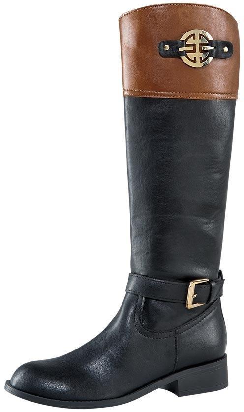 2ceec7d4123 bota alta con hebilla tacon bajo negro y cafe oferta montar. Cargando zoom.