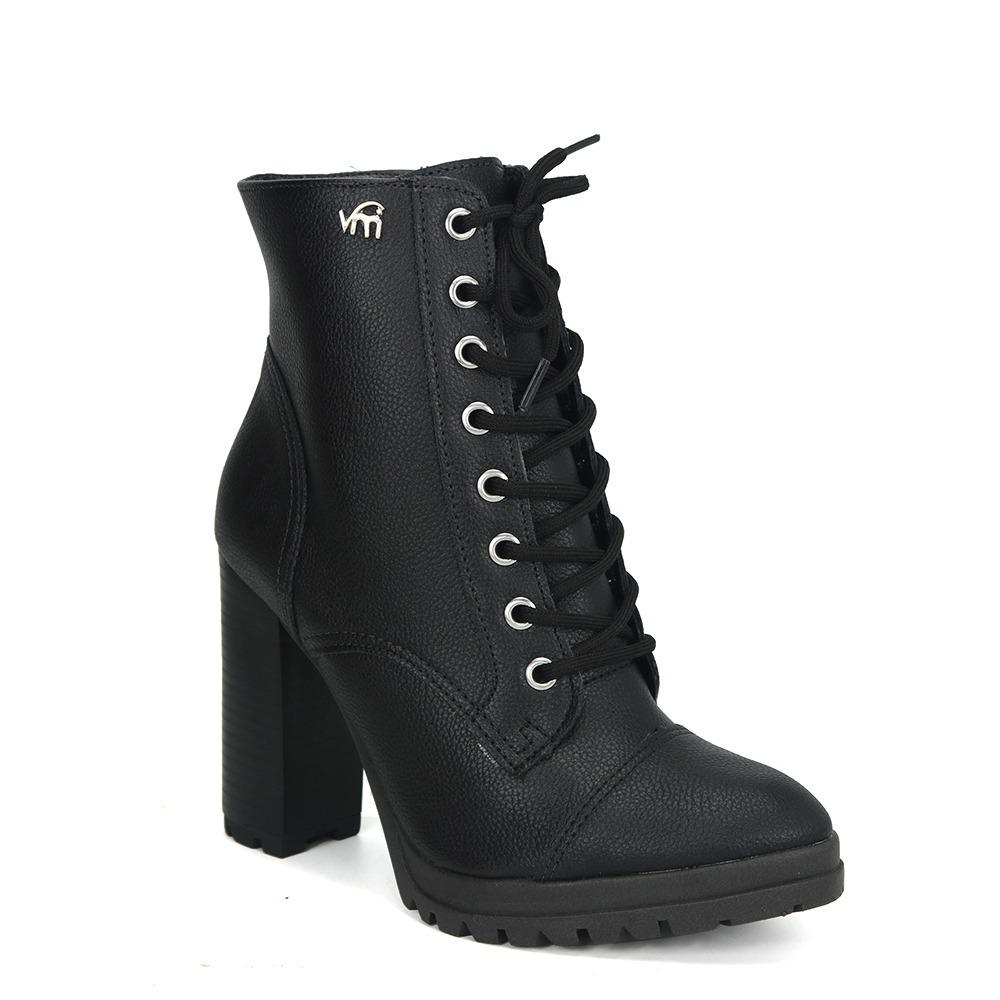 1bc3b2b3c bota ankle boot coturno feminino via marte 18-903 preto. Carregando zoom.