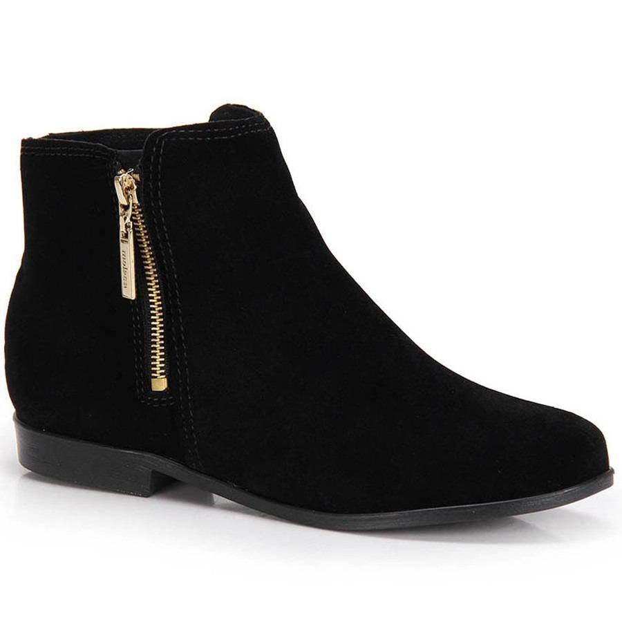 073d9ca41 bota ankle boots moleca zíper preta - qualidade top. Carregando zoom.