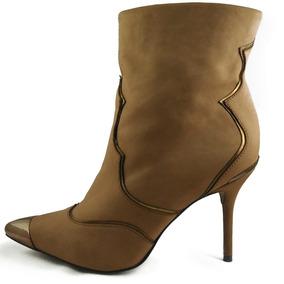 36ff4e590 Broca Para Cano Feminino Botas - Botas Ankle Boots Coral claro no Mercado  Livre Brasil