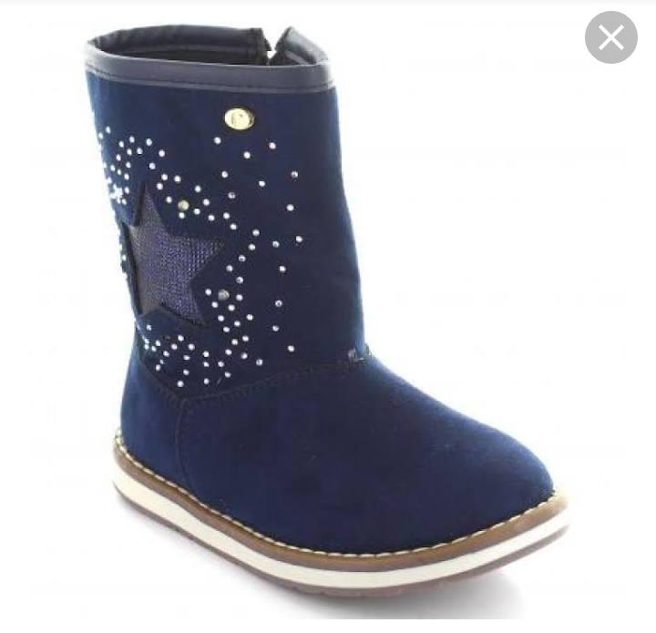 62d647194ea Bota Azul Marino Coqueta Niña Talla 20 - $ 380.00 en Mercado Libre