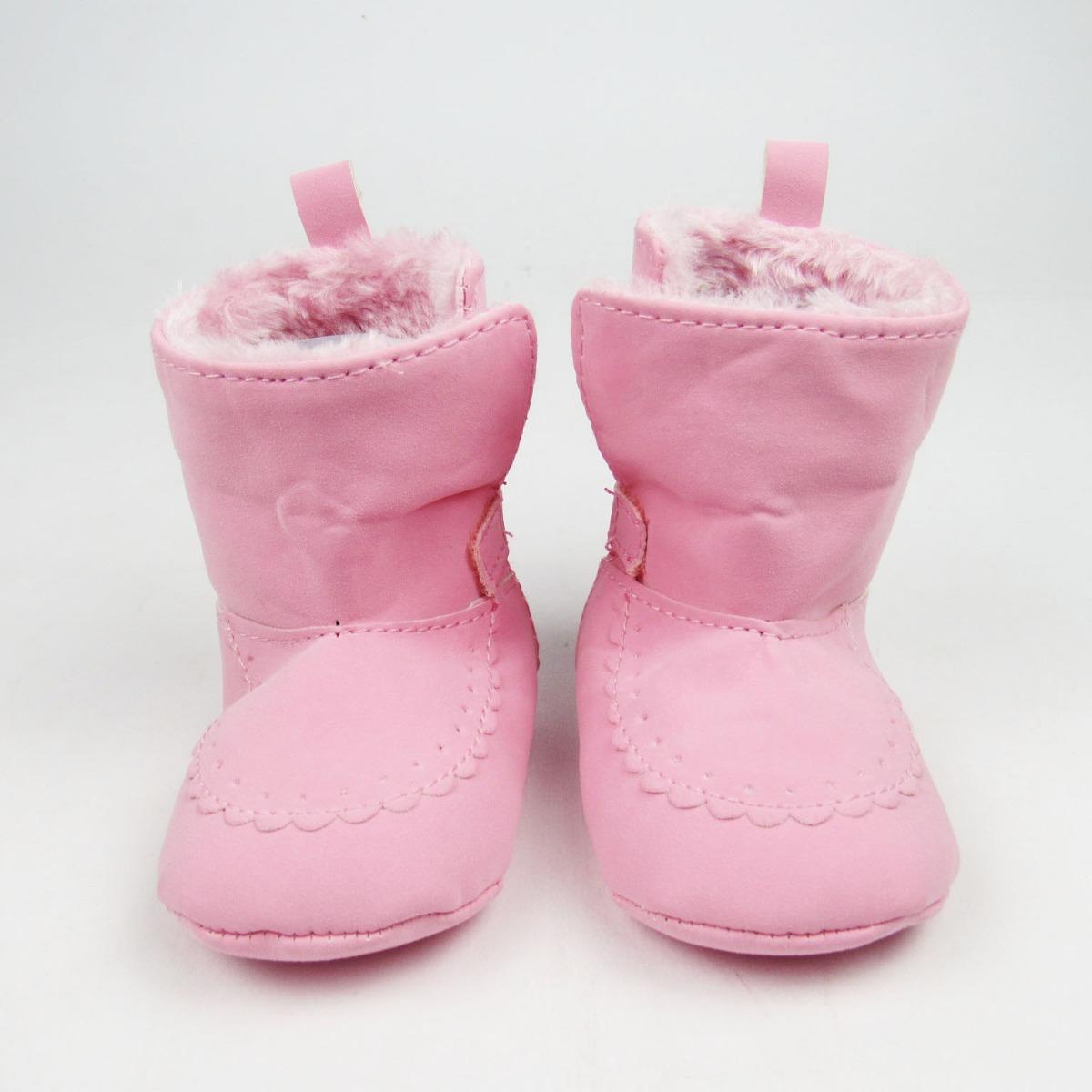 ea196deaae bota bebê feminina pelúcia rosa. Carregando zoom.