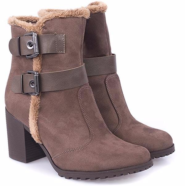 Bota Bebece Cano Curto Estilo Ankle Boot - R  179,99 em Mercado Livre 60e04d7e72