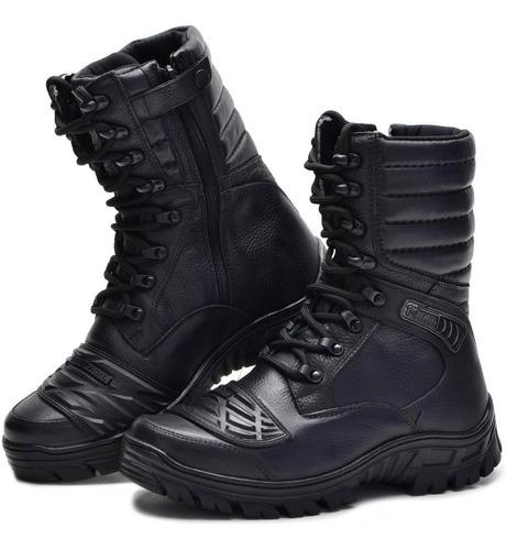 bota bmbrasil operacinal attack 5188/01 ziper cano alto