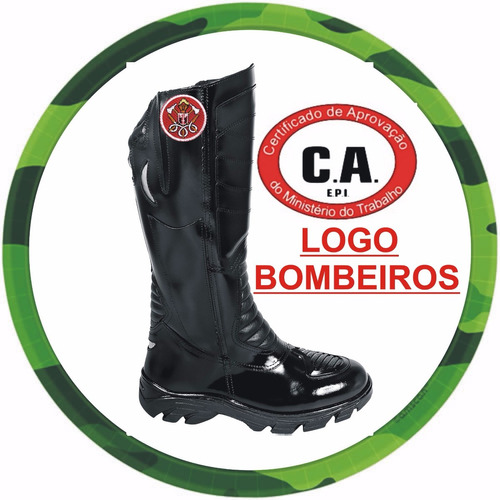 bota bombeiro, motociclista, moto, ambiental, 12x s/ juros.