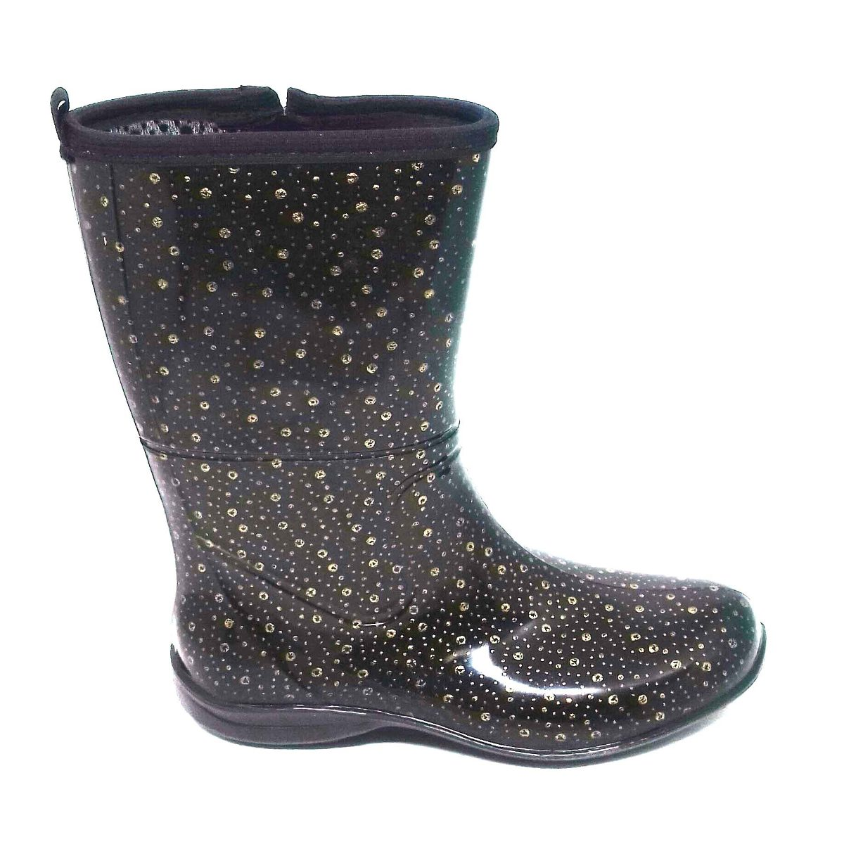 57a4d704fcb bota borracha galocha chuva feminina pat cano médio bolinha. Carregando  zoom.