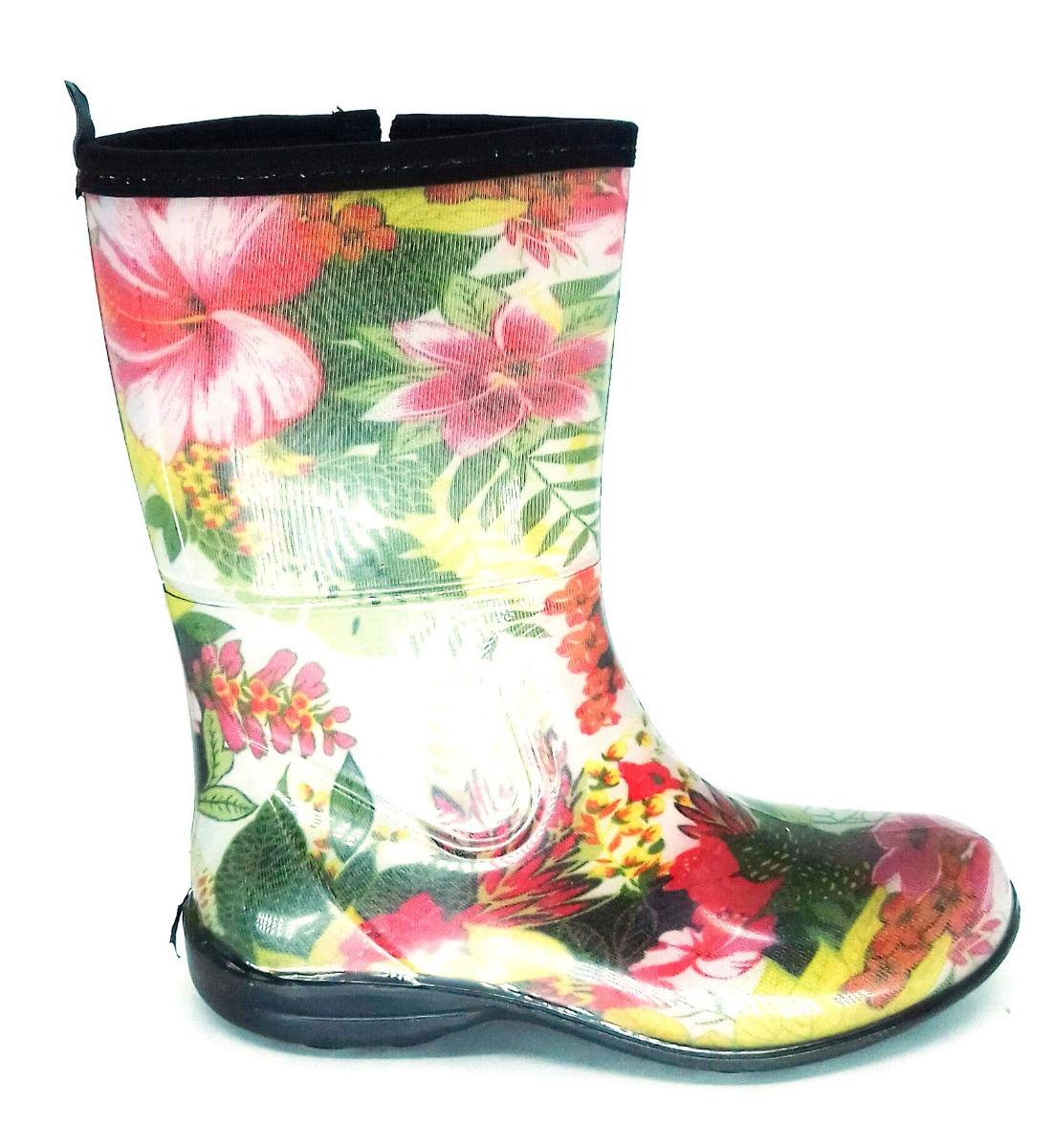 321be86e469 bota borracha galocha chuva feminina pat cano médio floral. Carregando zoom.