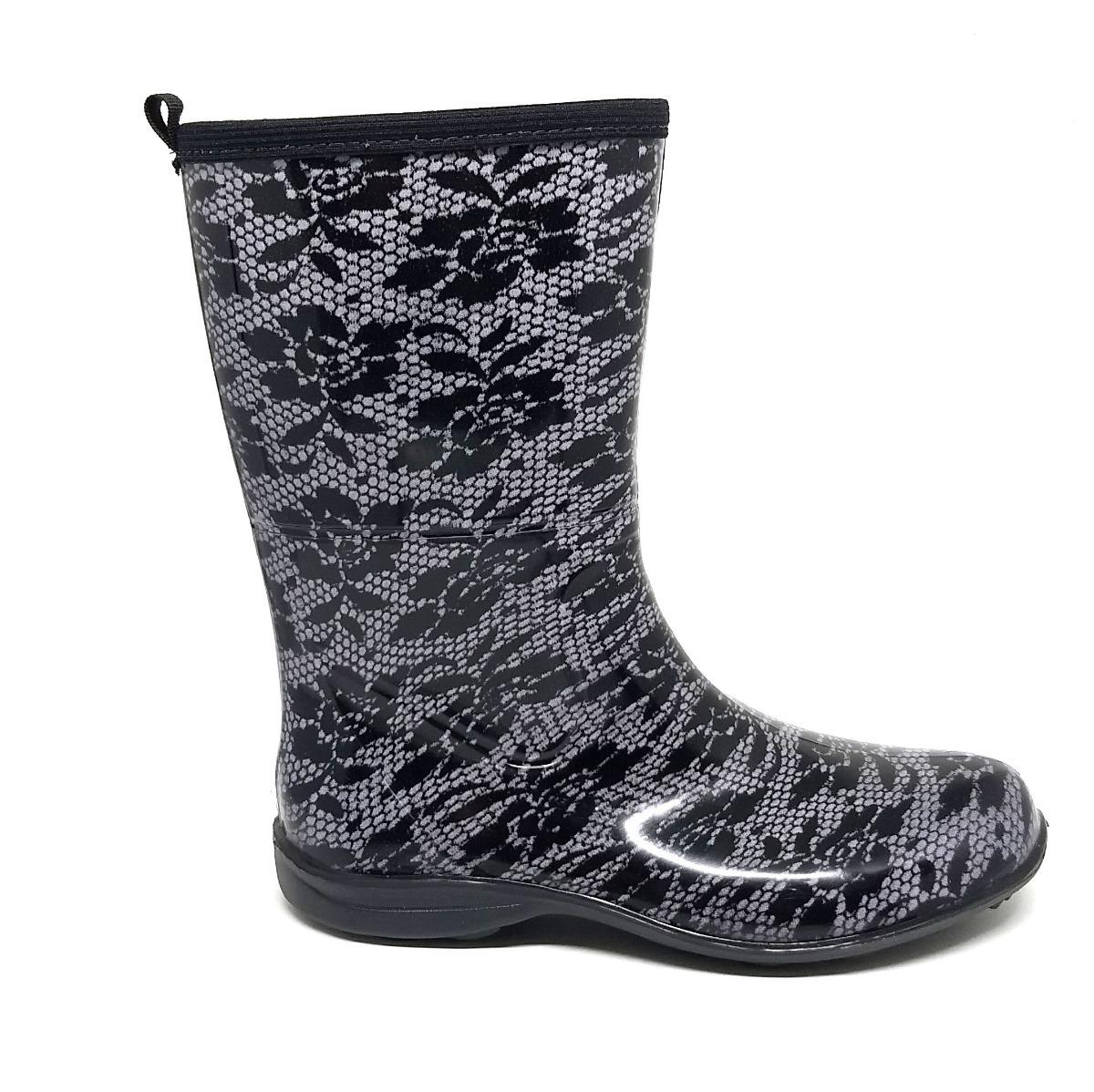 d314ad7c1f6 bota borracha galocha chuva feminina pat cano médio renda. Carregando zoom.