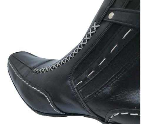 bota botin office comfort 27030a0 hombre piel meztizo negro