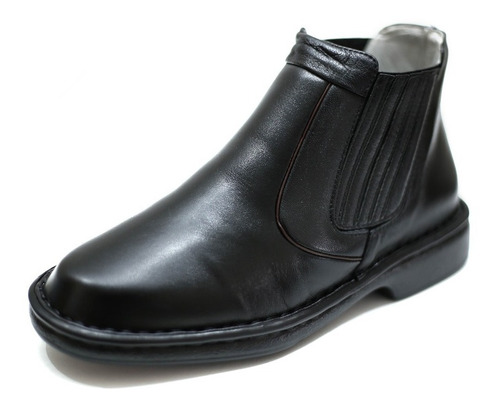 bota botina alcalay pelica couro anti estresse relax confort macio tamanho grande até 47