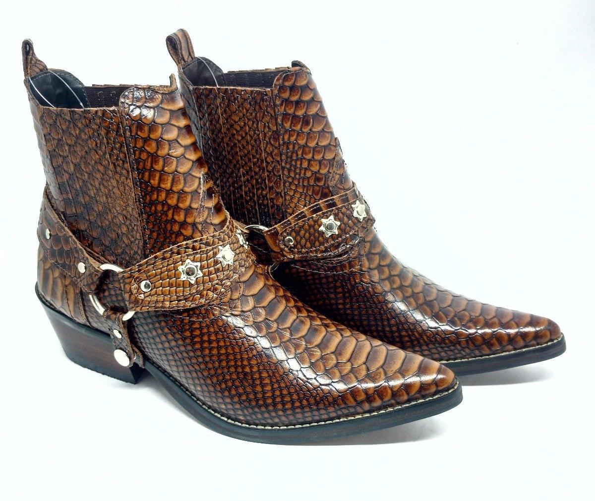 72febdd7066 bota botina country bico fino masculina couro anaconda luxo. Carregando  zoom.