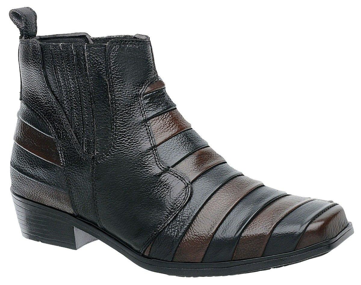 4d9f0c0a3a0 bota botina country couro escamada preto  whisky 2741 cowboy. Carregando  zoom.