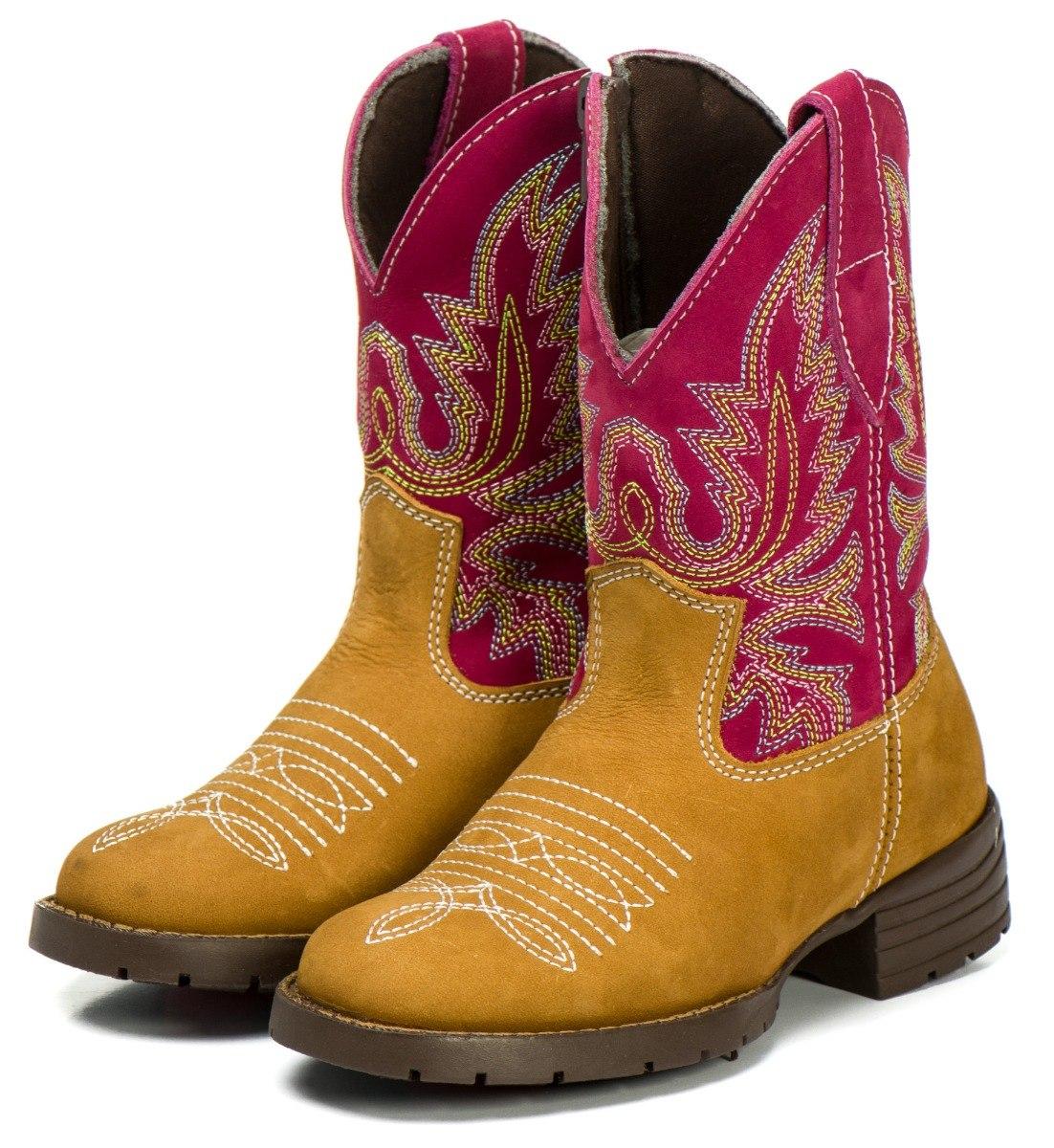 bota botina country infantil texana rodeio masculino feminin. Carregando  zoom. 6b8028943be