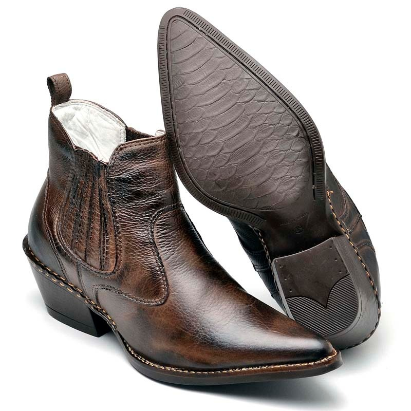 01acfe1252a bota botina country masculina couro anaconda bico fino luxo. Carregando  zoom.