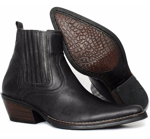 bota botina country masculina couro legítimo exclusiv casual