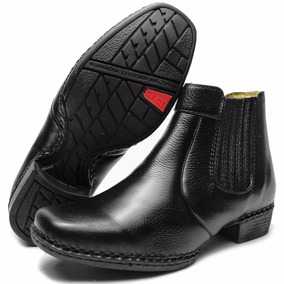 53db8ae2be8 Bota Botina Country Masculina Couro Palmilha Gel Costurada