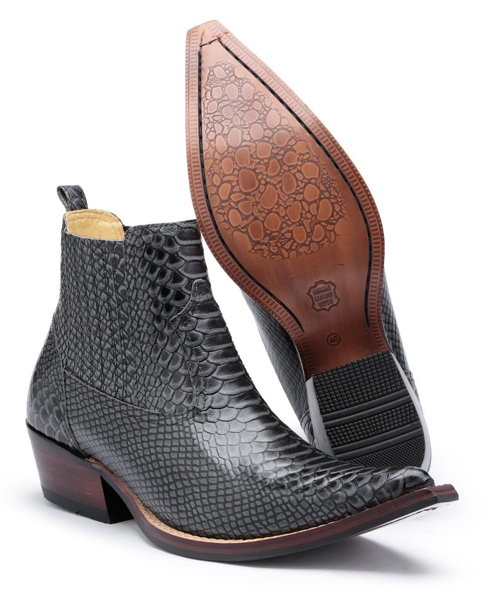 bota botina country masculina texana 100% couro rodeio peão. Carregando  zoom. 801db63d427