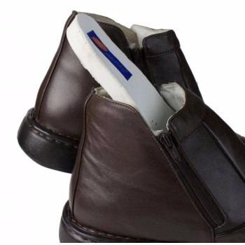 bota botina em couro confortável tamanhos grandes 36 ao 47