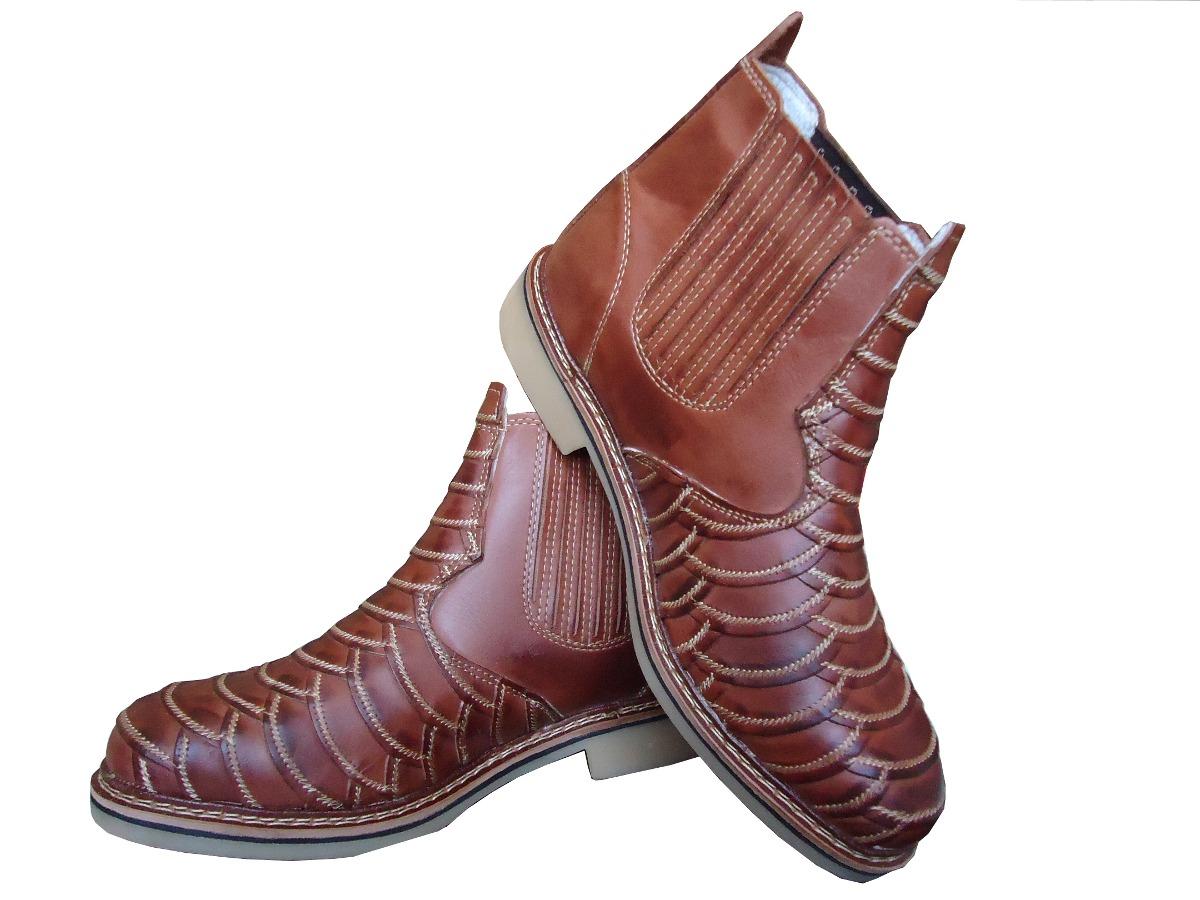 ece4c407d0 bota botina escamada cano curto country sola latex couro. Carregando zoom.
