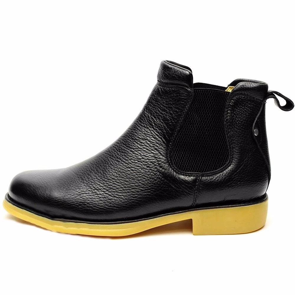 a52fe225c bota botina escrete masculina couro legitimo preto franca sp. Carregando  zoom.