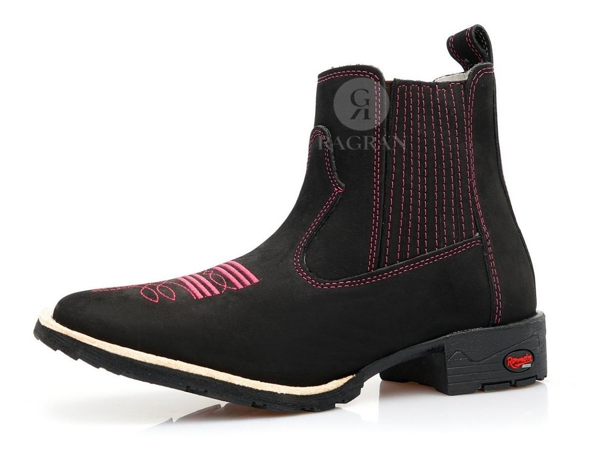 04d552879a bota botina feminina masculina bico quadrado country couro. Carregando zoom.