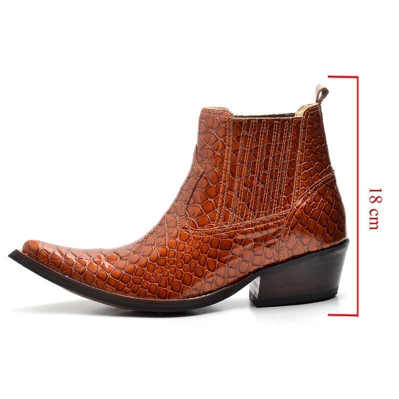 e2fbb7d3f47 bota botina masculina anaconda couro luxo country bico fino. Carregando  zoom.