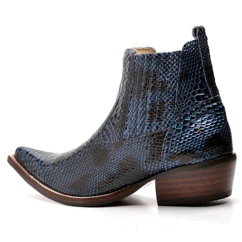 1fec91068a4529  bota botina masculina anaconda couro luxo country bico  fino. Carregando zoom. d3814f65e81