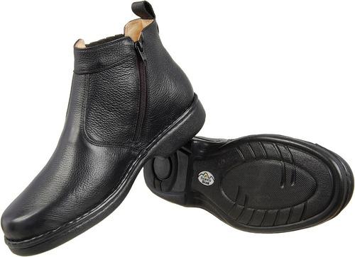 bota botina masculina antistress linha gel conforto 690 fb