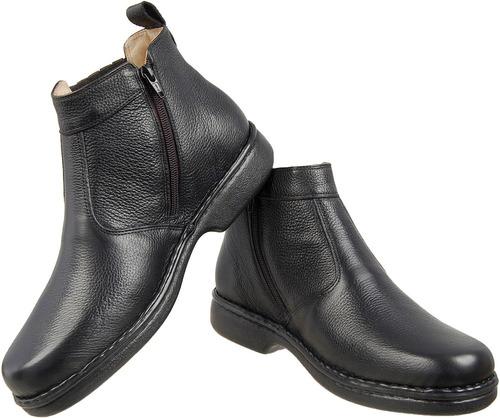 bota botina masculina antistress linha gel  puro conforto