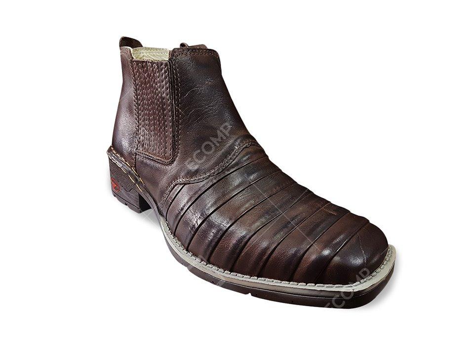 9bb82222c5 bota botina masculina casco de tatu couro nobre cowboy. Carregando zoom.