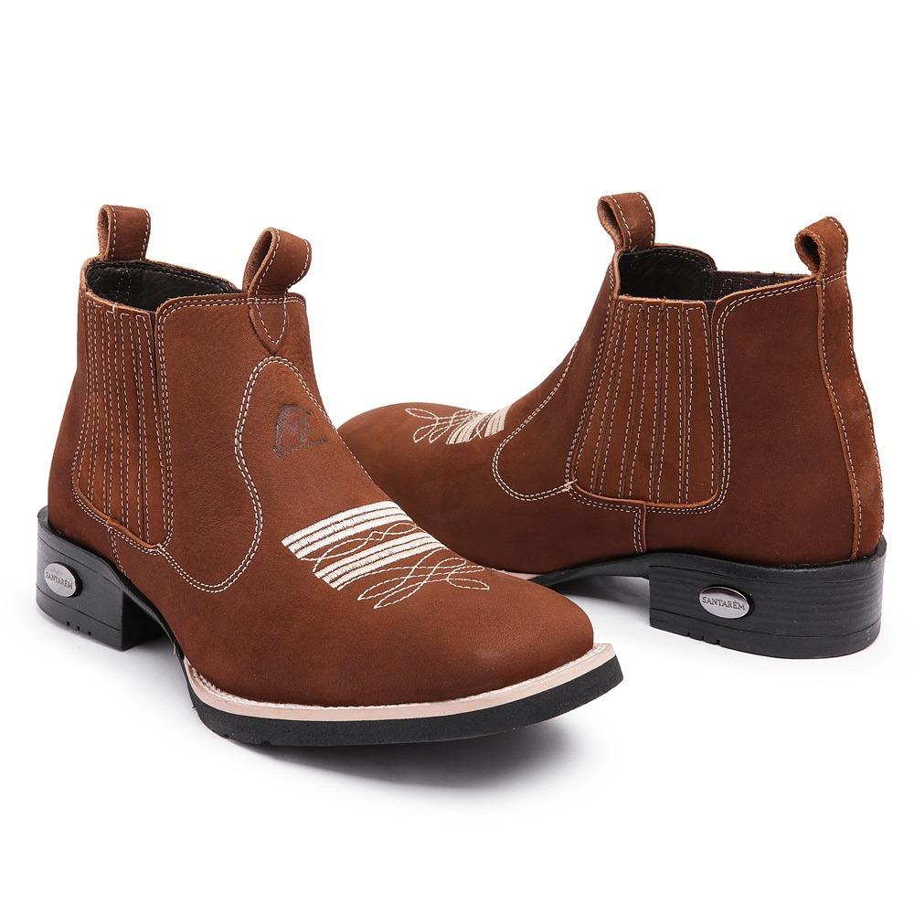 4c1ef228f0e4fd bota botina masculina country couro nobre confort exclusiva. Carregando  zoom.