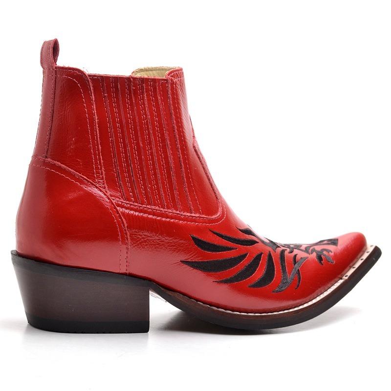 ... bota botina masculina country texana bico fino joão carreiro.  Carregando zoom. d551466861dfa4 ... 75a36d85fb9