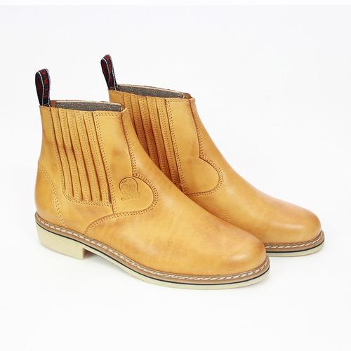 bota botina masculina em couro legitimo sola latex de franca