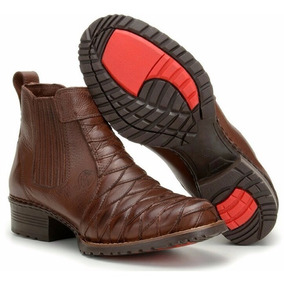34116f7f6a Botina De Couro Escamada - Calçados, Roupas e Bolsas com o Melhores Preços  no Mercado Livre Brasil