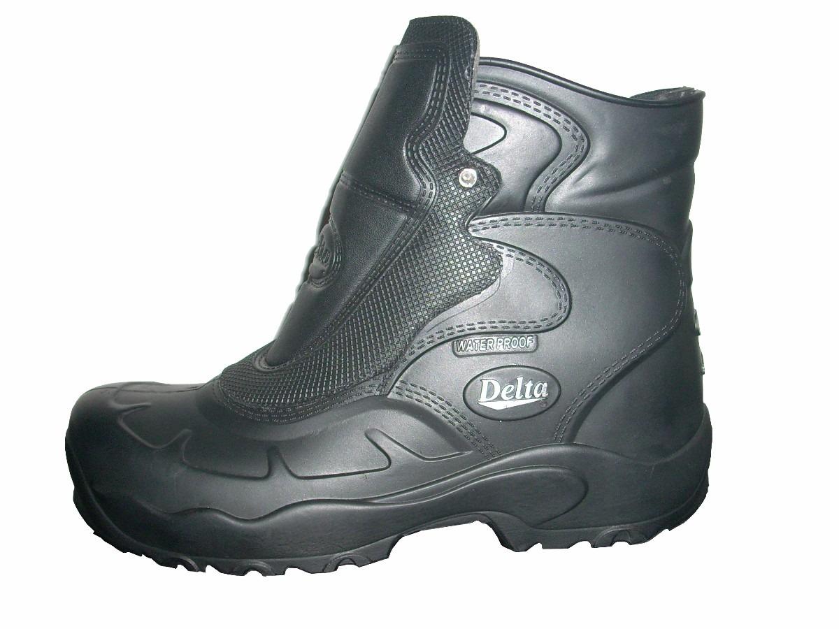 19a92e013f5 bota botina motociclista em borracha impermeável chuva delta. Carregando  zoom.