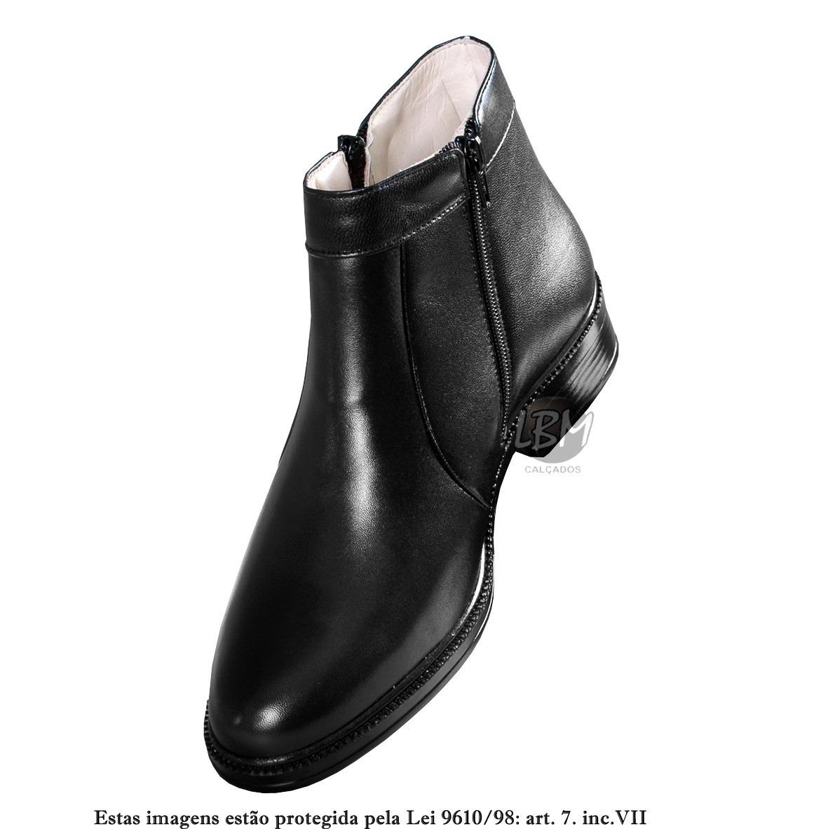 a0c030a02 bota botina social masculina 100% couro solado em gel. Carregando zoom.