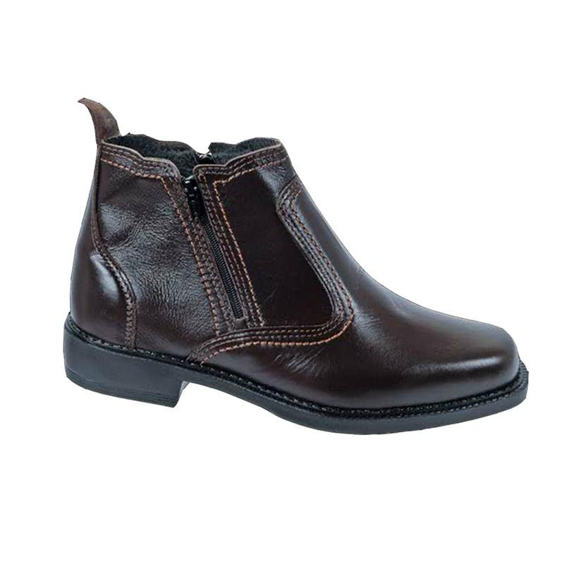 8ee194aa4 bota botina social masculina couro legitimo solado costurado. Carregando  zoom.
