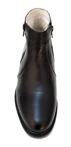 bota botina social masculina couro zipper - sapatofranca