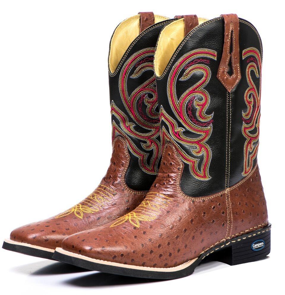 8417c2087d bota botina texana avestruz masculina 100% couro montaria. Carregando zoom.