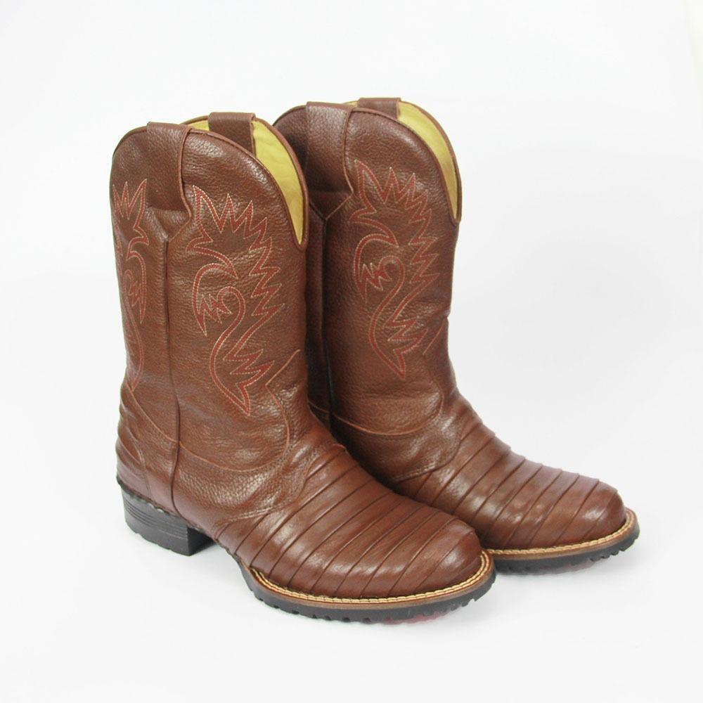 bota botina texana escamada country couro rodeio masculina. Carregando zoom. f522b5adff3