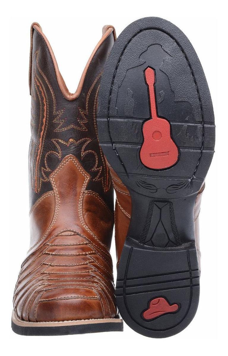 dfdb25b434 bota botina texana escamada masculina 100% couro montaria. Carregando zoom.