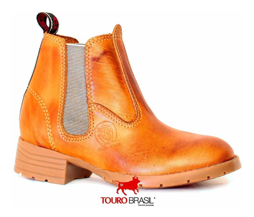bota botina texana infantil country rodeo couro exclusiva
